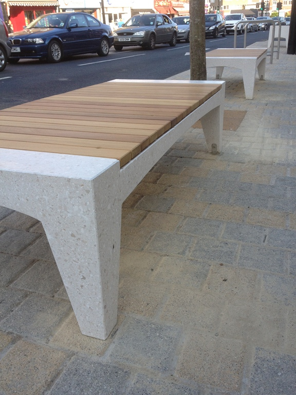stone concrete and FSC Hardwood  includes benches  chairs  planters and  litter bins  was developed in partnership with Factory Furniture Ltd with  Je Ahn. AMOP Synergies   Design   Furniture   Floorings   Coatings